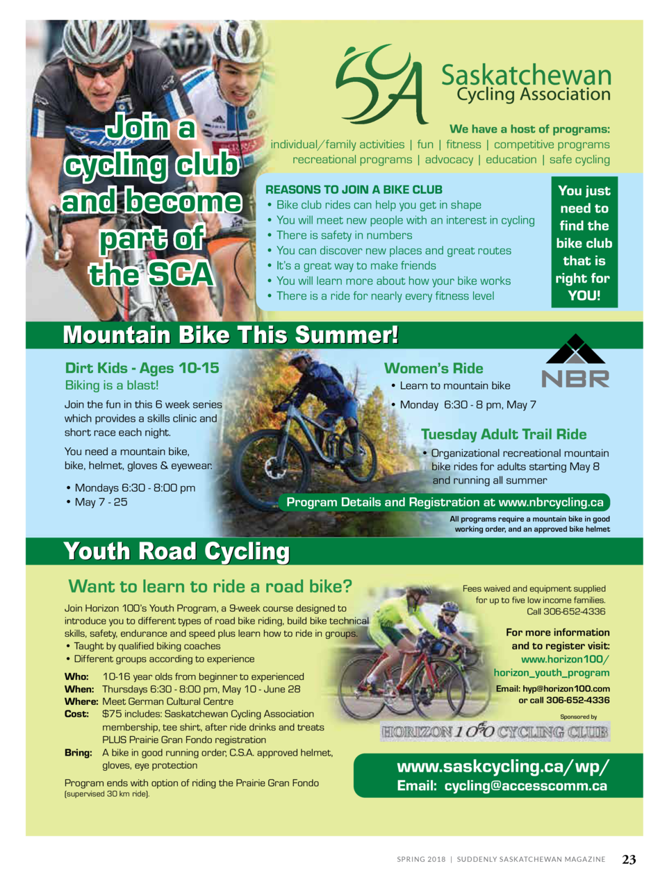 Join a cycling club and become part of the SCA  We have a host of programs  individual family activities   fun   fitness  ...