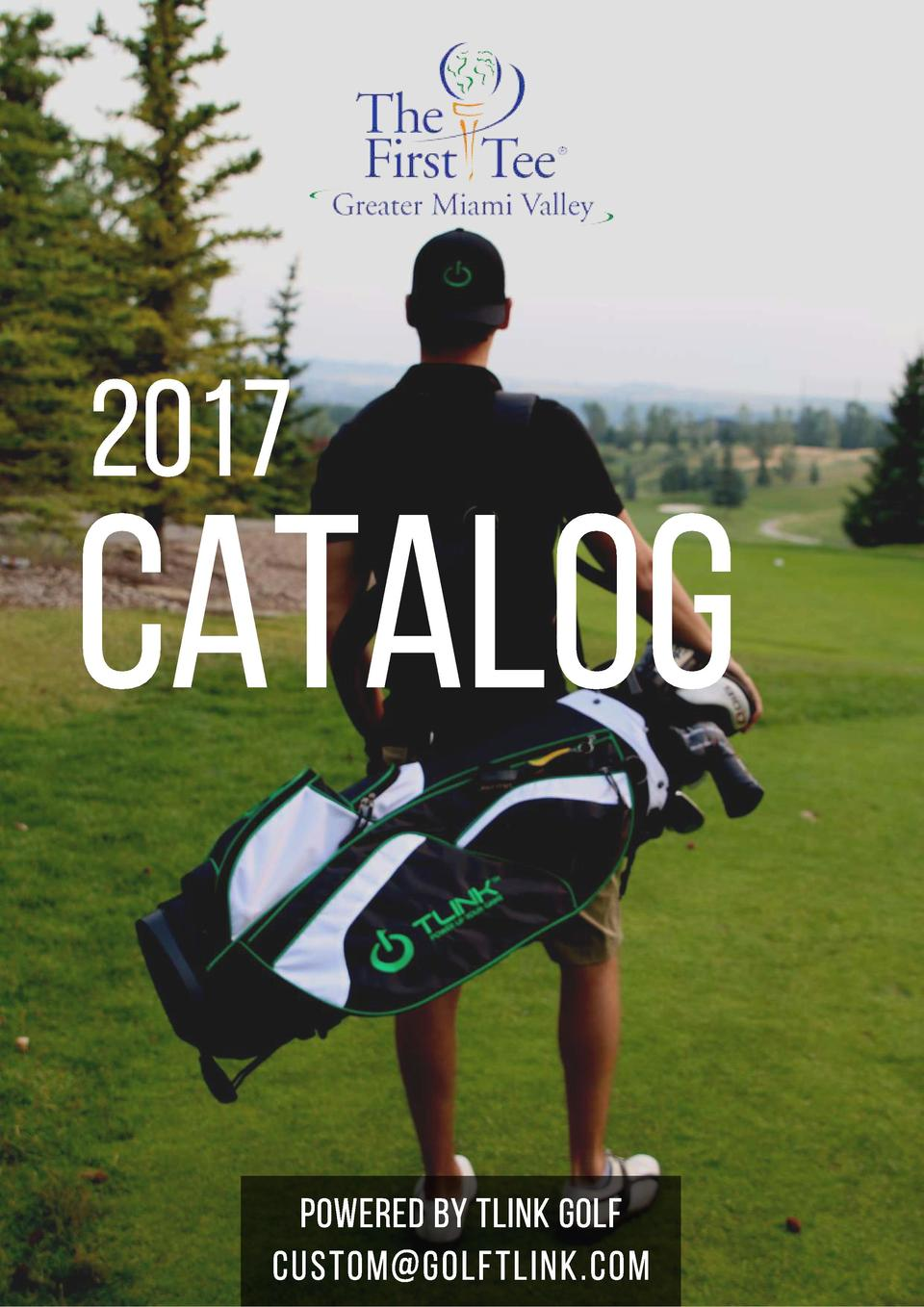2017  CATALOG POWERED BY TLINK GOLF custom golftlink.com