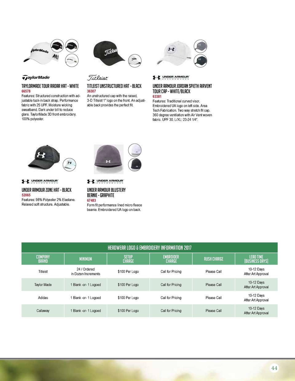 TaylorMade Tour Radar Hat - White  66578 Features  Structured construction with adjustable tuck-in back strap. Performance...
