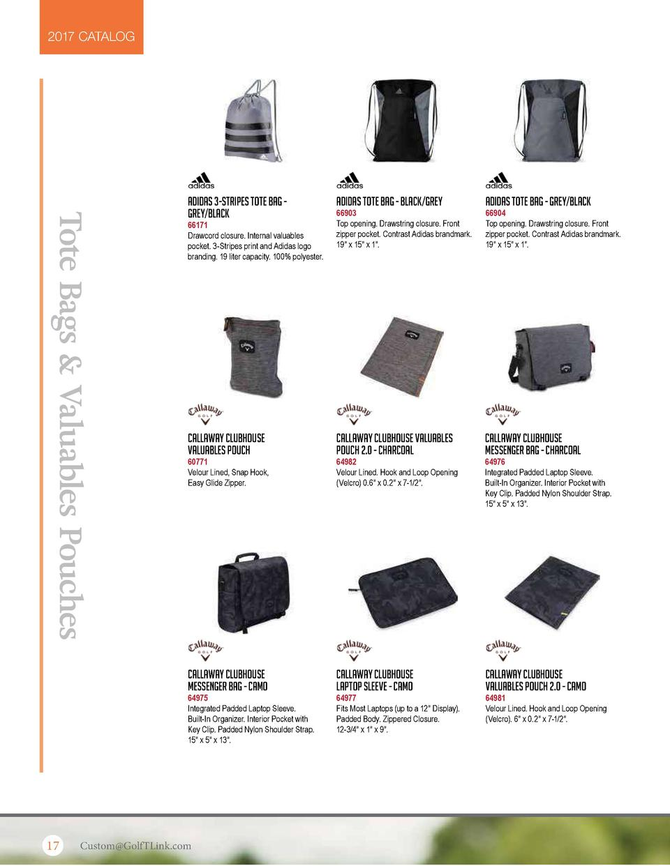 2017 CATALOG  Tote Bags   Valuables Pouches  Adidas 3-Stripes Tote Bag Grey Black  Adidas Tote Bag - Black Grey  Adidas To...