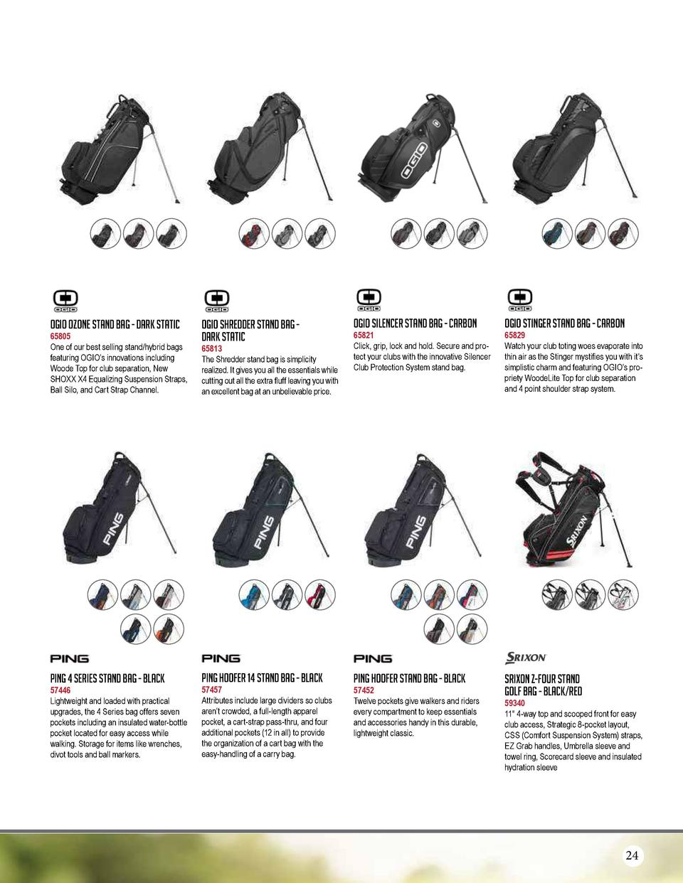 Ogio Ozone Stand Bag - Dark Static  65805 One of our best selling stand hybrid bags featuring OGIO   s innovations includi...