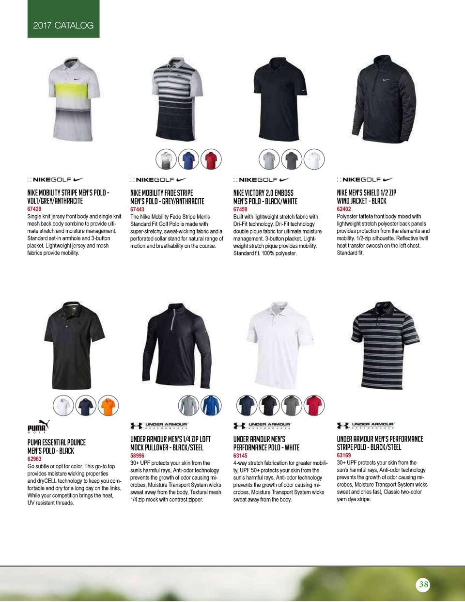 2017 CATALOG  Nike Mobility Stripe Men   s Polo Volt Grey Anthracite  Nike Mobility Fade Stripe Men   s Polo - Grey Anthra...