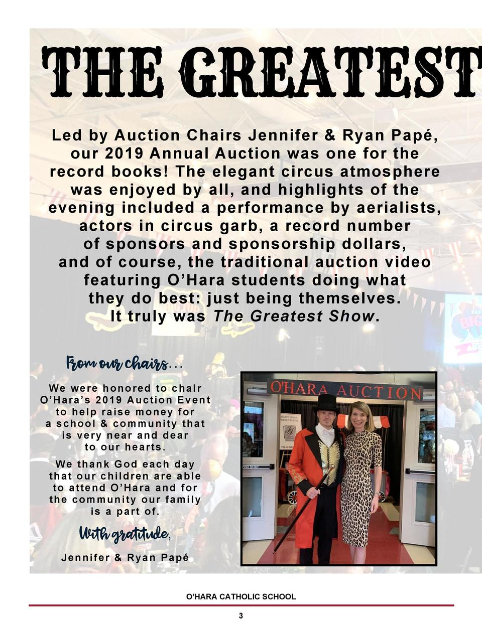 Led by Auction Chairs Jennifer   Ryan Pap  , our 2019 Annual Auction was one for the record books  The elegant circus atmo...