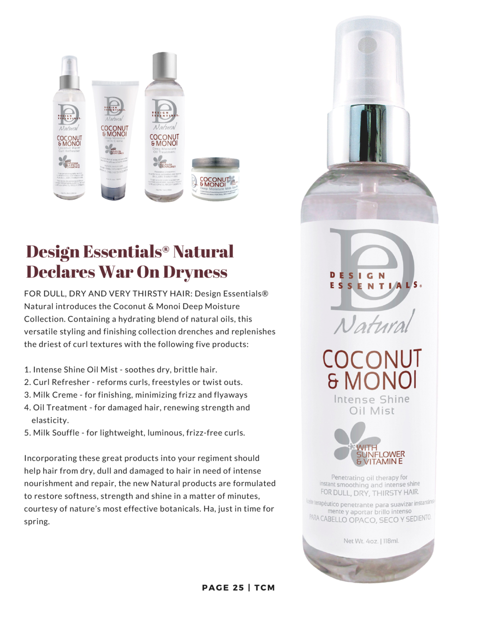 Design Essentials   Natural Declares War On Dryness FOR DULL, DRY AND VERY THIRSTY HAIR  Design Essentials   Natural intro...
