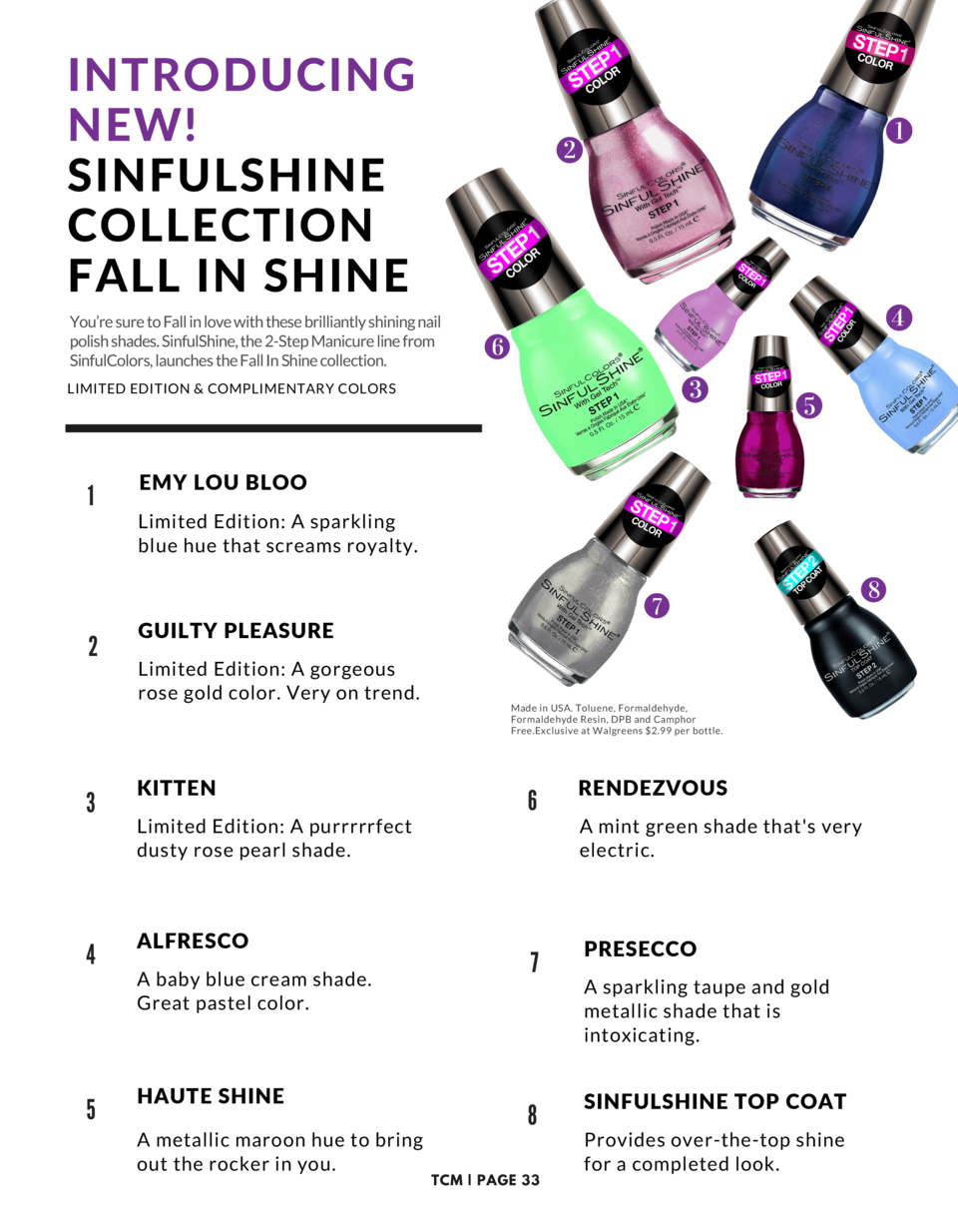 INTRODUCING NEW  SINFULSHINE COLLECTION FALL IN SHINE You   re sure to Fall in love with these brilliantly shining nail po...