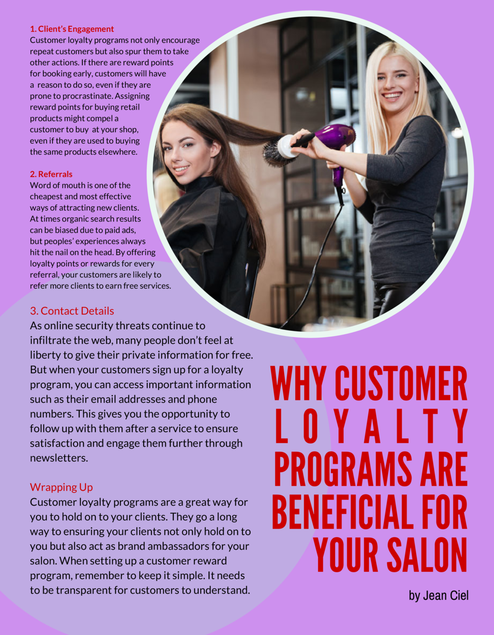 1. Client   s Engagement Customer loyalty programs not only encourage repeat customers but also spur them to take other ac...