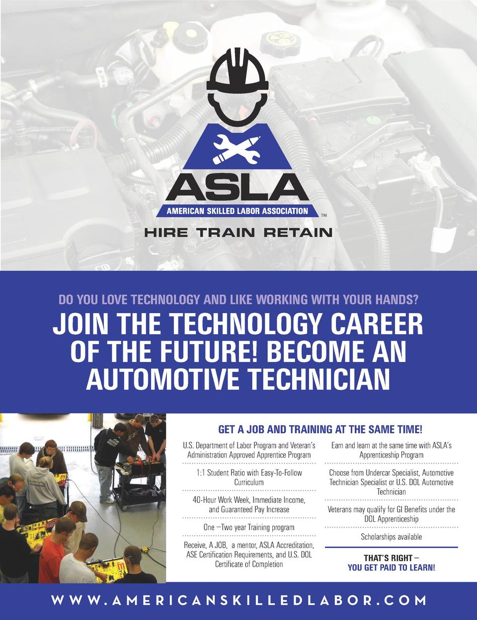 TM  HIRE TRAIN RETAIN  DO YOU LOVE TECHNOLOGY AND LIKE WORKING WITH YOUR HANDS   JOIN THE TECHNOLOGY CAREER OF THE FUTURE ...