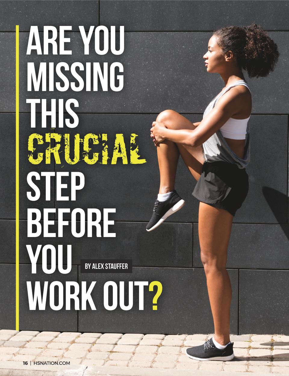 Are YOU Missing THIS  CRUCIAL  STEP BEFORE YOU WORK OUT  BY Alex Stauffer  16   HSNATION.COM