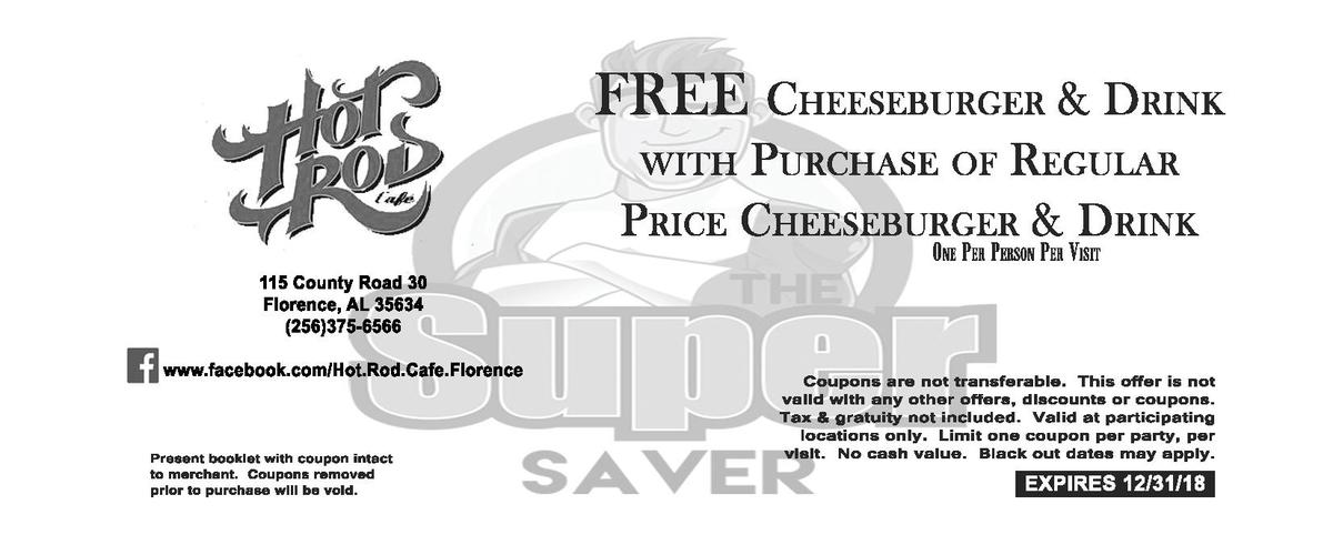 FREE CHEESEBURGER   DRINK PURCHASE OF REGULAR PRICE CHEESEBURGER   DRINK WITH  ONE PER PERSON PER VISIT  115   County   Ro...