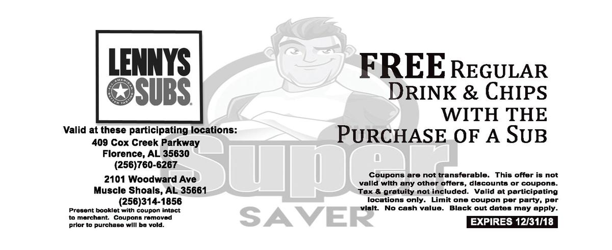 FREE R D  Valid   at   these   participating   locations  409   Cox   Creek   Parkway Florence,   AL   35630  256 760-  62...
