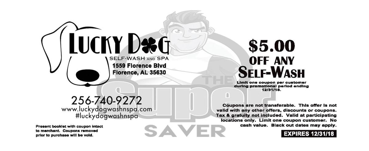 5.00 1559   Florence   Blvd Florence,   AL   35630  OFF ANY  SELF-  WASH Limit   one   coupon   per   customer    during ...