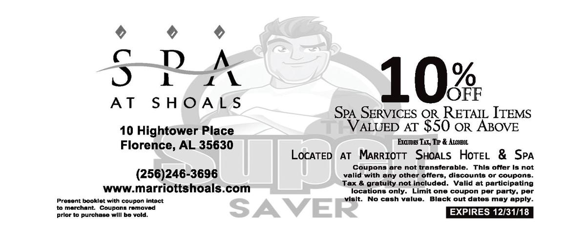 10    10   Hightower   Place Florence,   AL   35630  256 246-  3696 www.marriottshoals.com Present   booklet   with   coup...