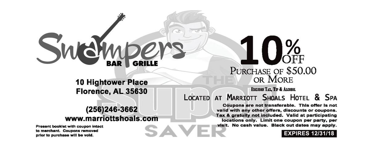 10    10   Hightower   Place Florence,   AL   35630  256 246-  3662 www.marriottshoals.com Present   booklet   with   coup...