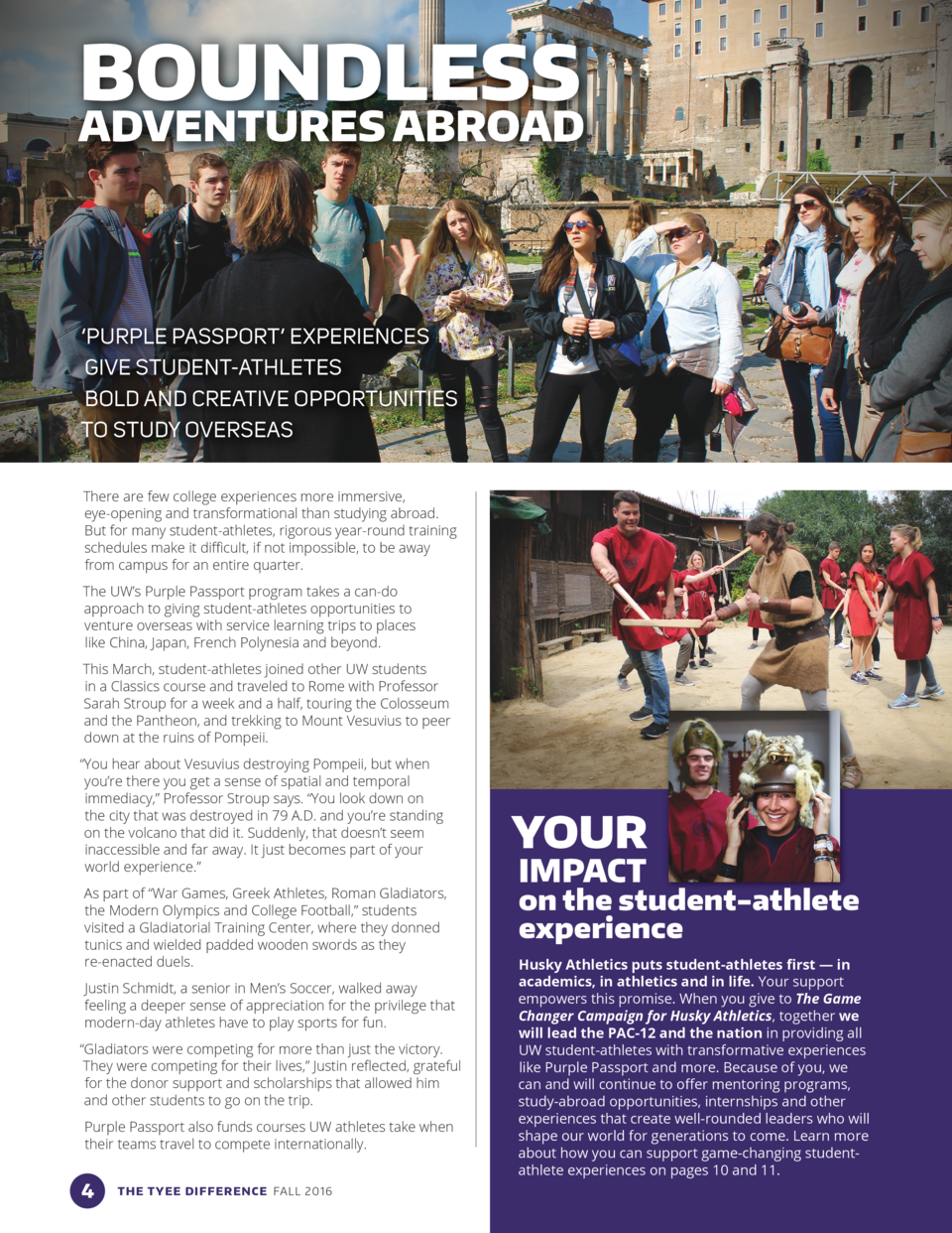BOUNDLESS  ADVENTURES ABROAD     PURPLE PASSPORT    EXPERIENCES GIVE STUDENT-ATHLETES BOLD AND CREATIVE OPPORTUNITIES TO S...