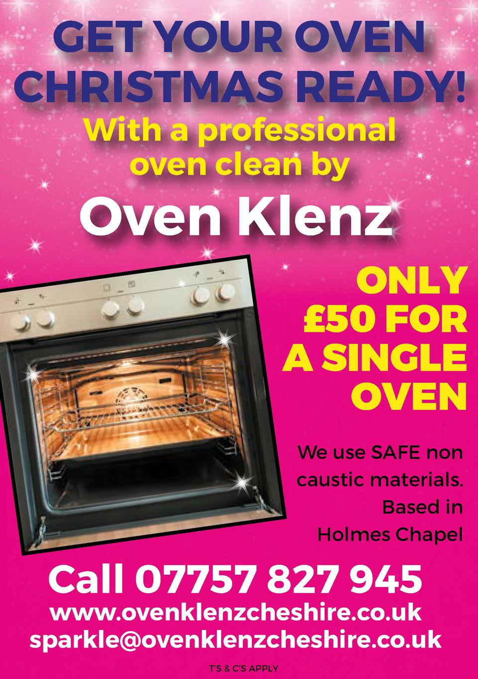 GET YOUR OVEN CHRISTMAS READY  With a professional oven clean by  Oven Klenz  ONLY   50 FOR A SINGLE OVEN We use SAFE non ...