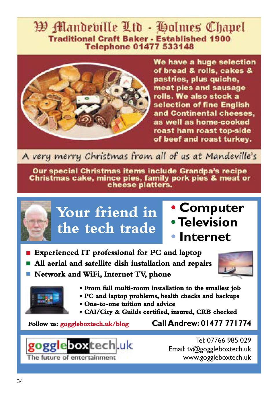 Computer     Television     Internet  Call Andrew  01477 771774 Tel  07766 985 029 Email  tv goggleboxtech.uk www.gogg...