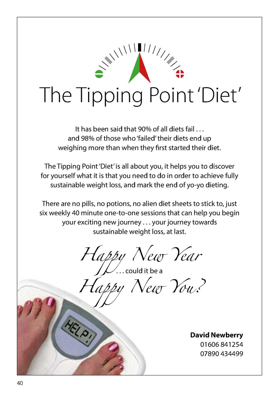 The Tipping Point    Diet    It has been said that 90  of all diets fail . . . and 98  of those who    failed    their die...