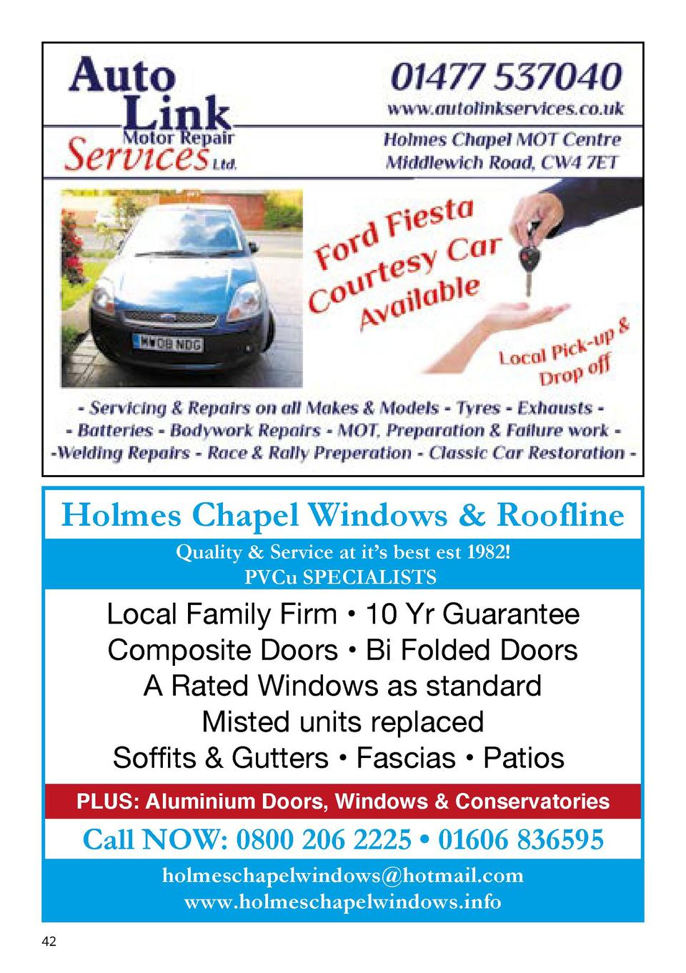 Holmes Chapel Windows   Roofline Quality   Service at it   s best est 1982  PVCu SPECIALISTS  Local Family Firm     10 Yr ...