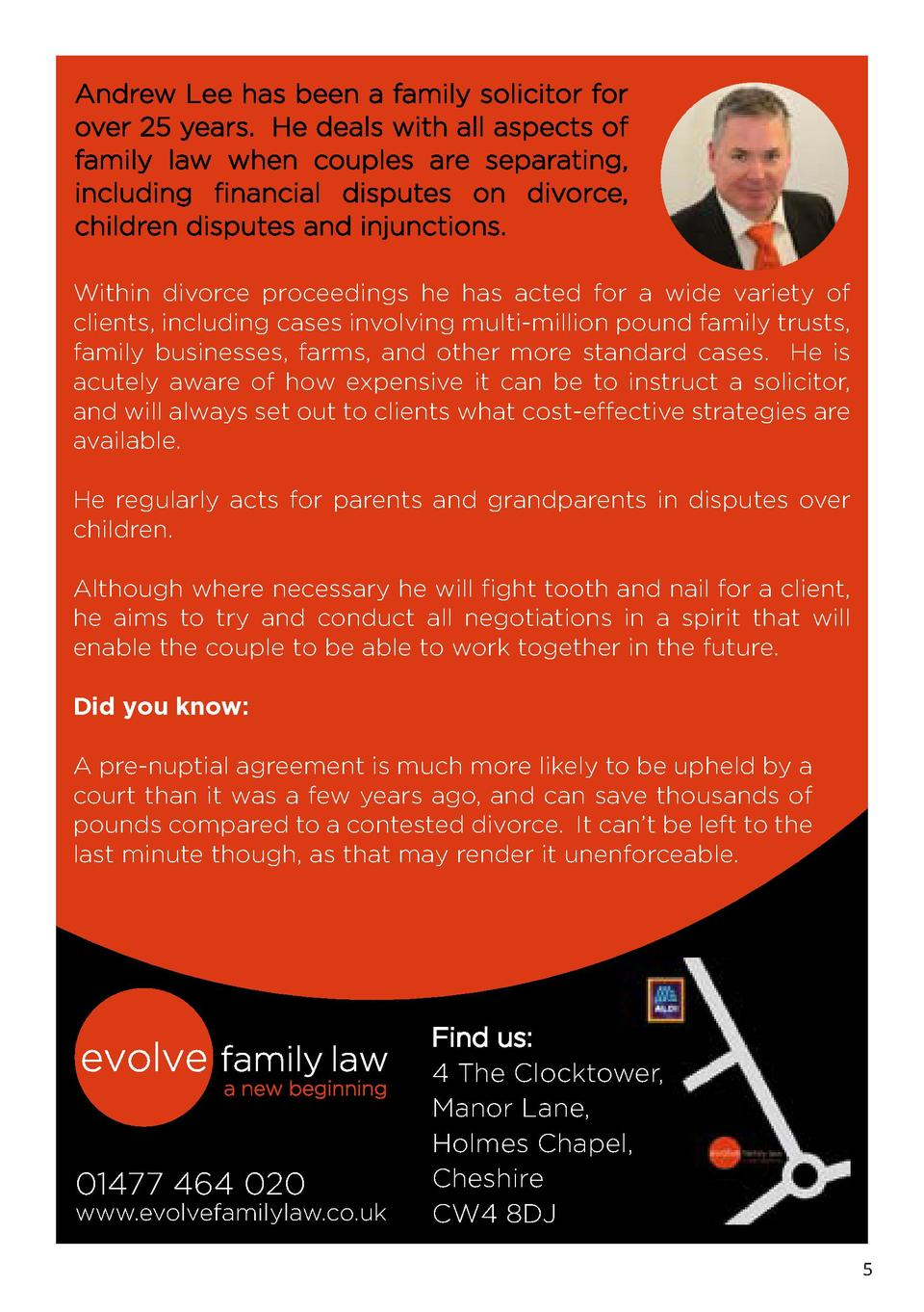 Andrew Lee has been a family solicitor for over 25 years. He deals with all aspects of family law when couples are separat...