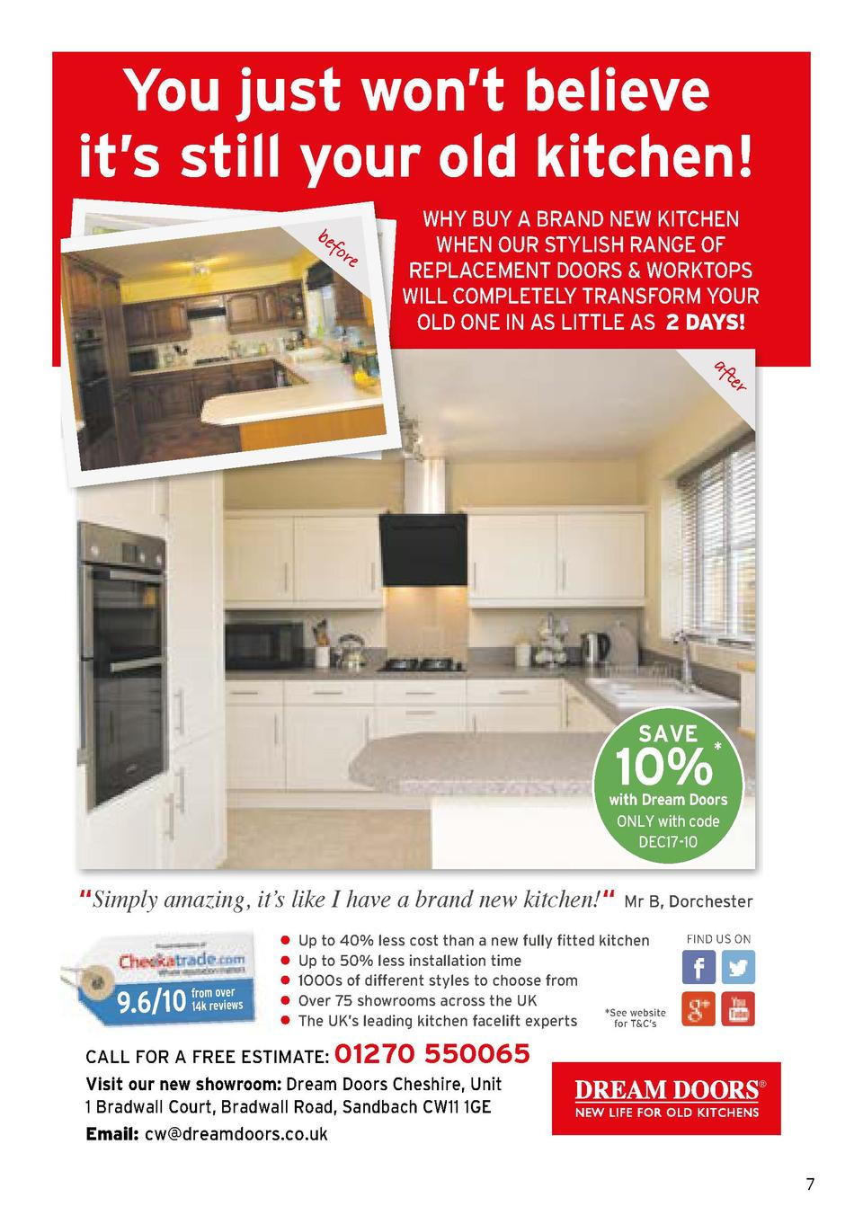 You just won   t believe it   s still your old kitchen  be fo re  WHY BUY A BRAND NEW KITCHEN WHEN OUR STYLISH RANGE OF RE...