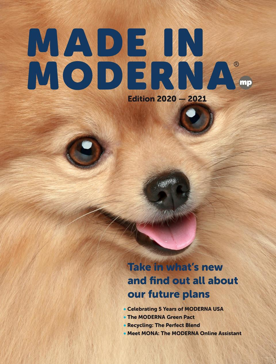 Edition 2020     2021  Take in what   s new and    nd out all about our future plans     Celebrating 5 Years of MODERNA US...