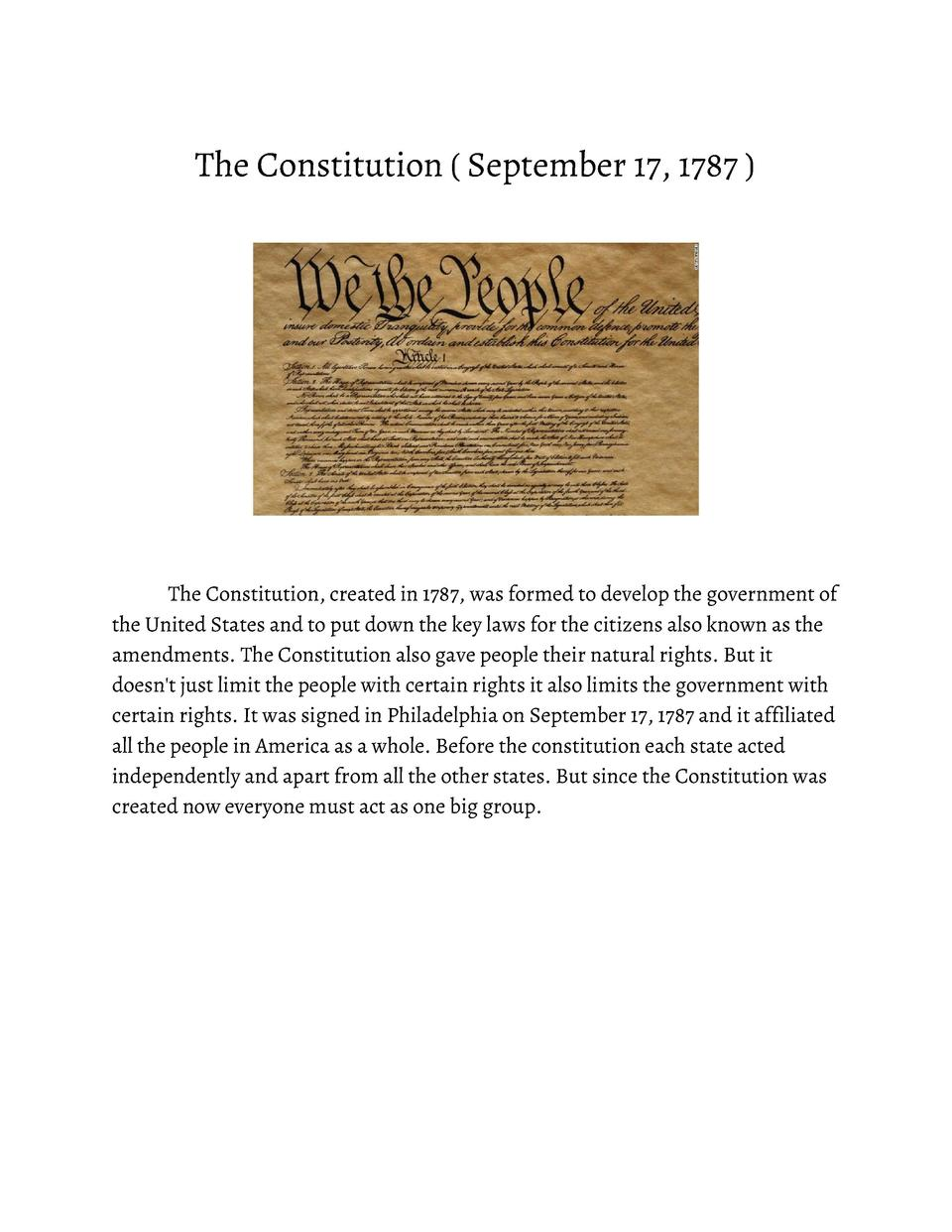 The       Constitution               September       17,       1787                     The       Constitution,       ...