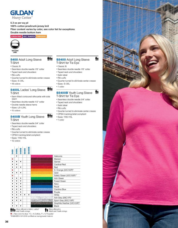 2017 gildan catalogue simplebooklet 53 oz per sq yd 100 cotton preshrunk jersey knit fiber content varies by color nvjuhfo Images