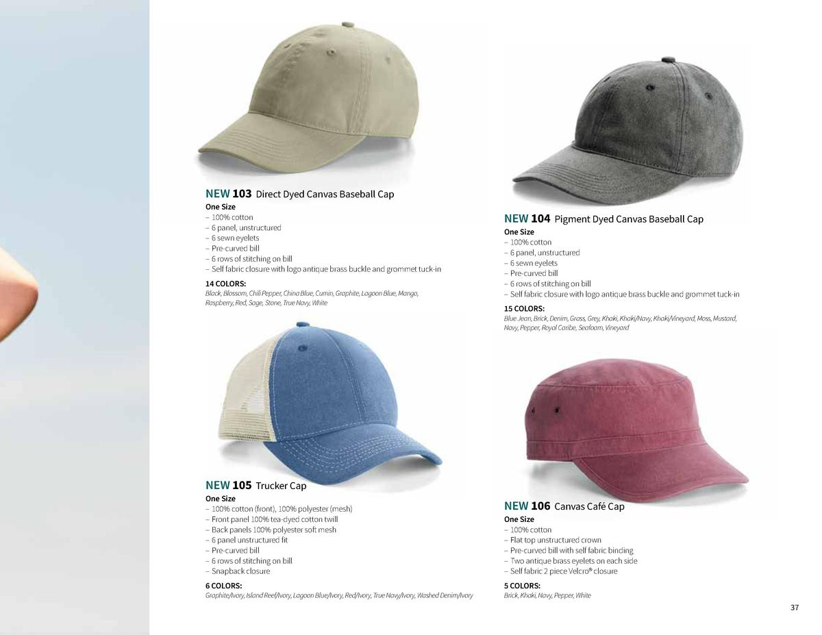 4aff6e5b7fc NEW 103 Direct Dyed Canvas Baseball Cap One Size 100 cotton 6 panel