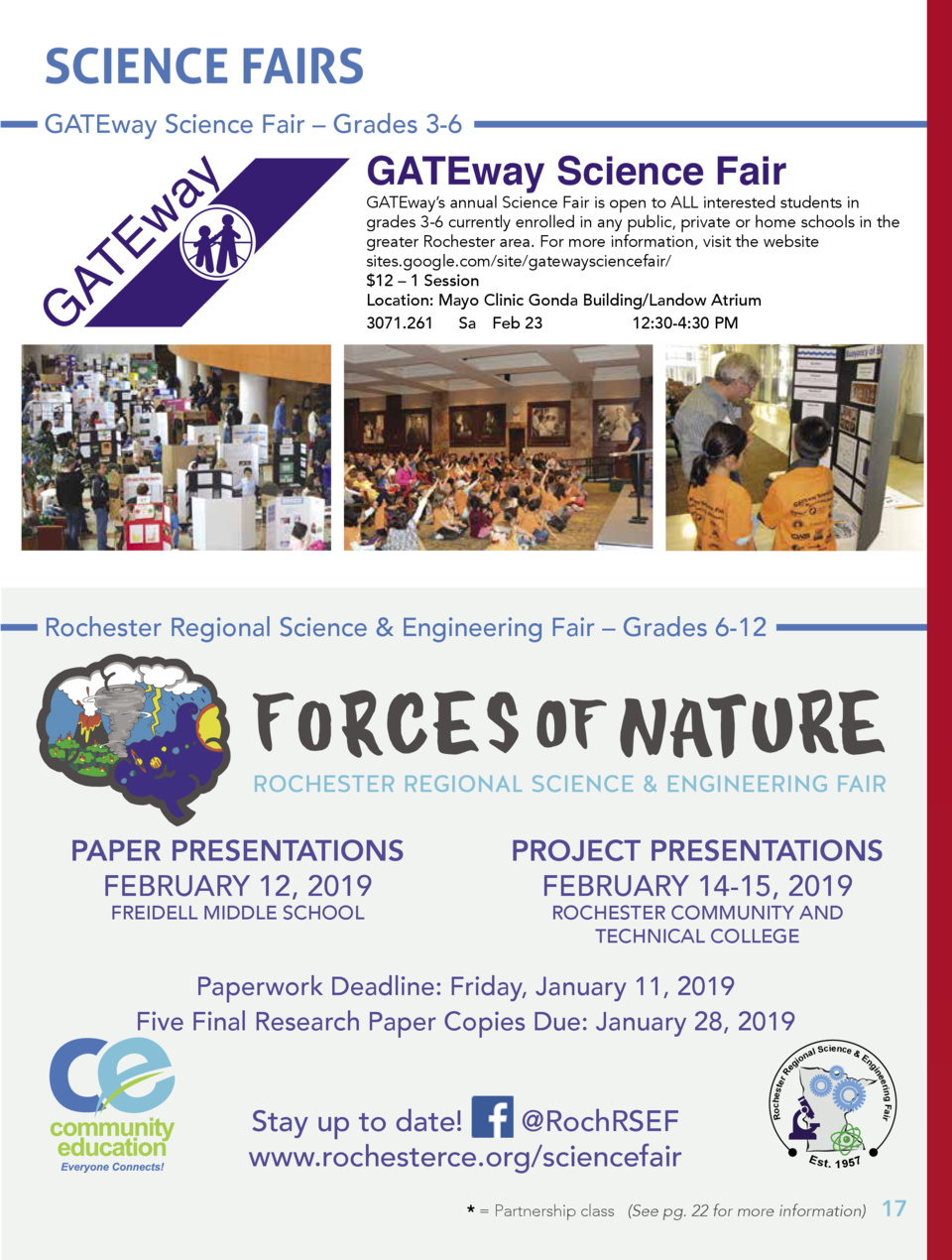 SCIENCE FAIRS GATEway Science Fair     Grades 3-6  GATEway Science Fair  GATEway   s annual Science Fair is open to ALL in...