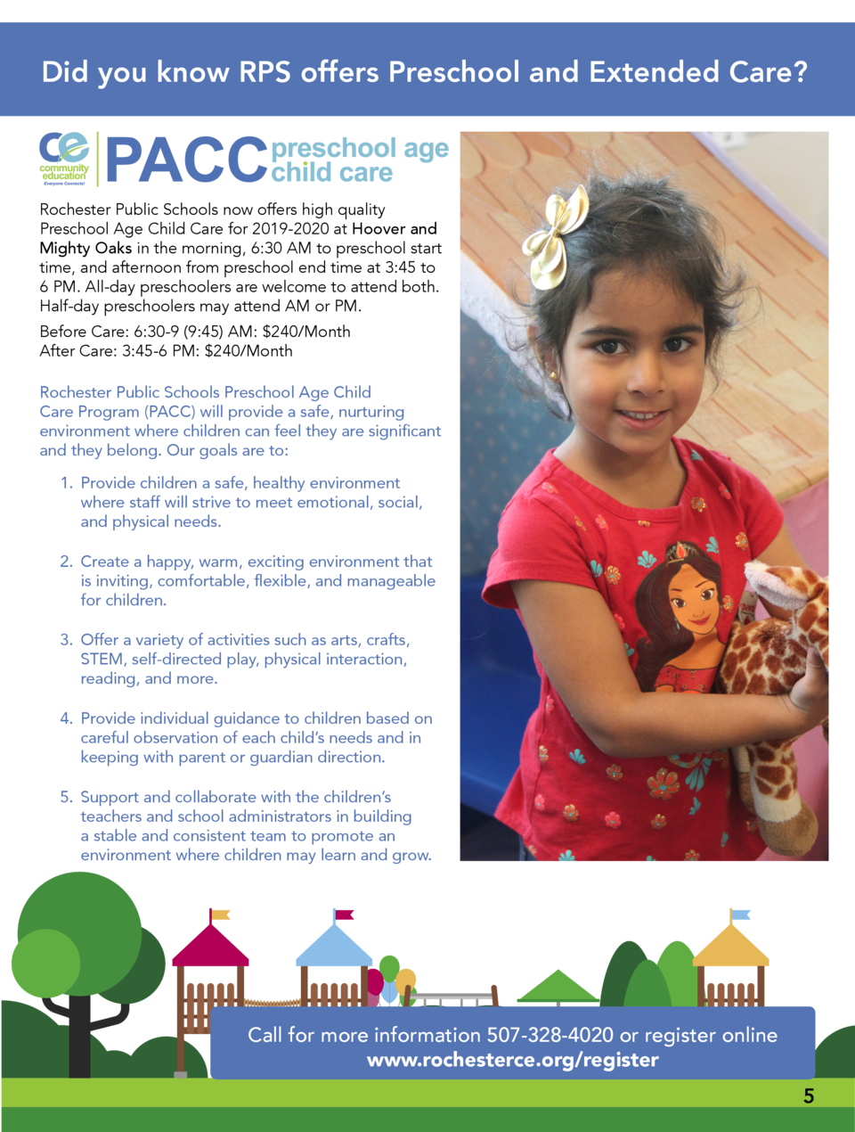 Did you know RPS offers Preschool and Extended Care   Rochester Public Schools now offers high quality Preschool Age Child...