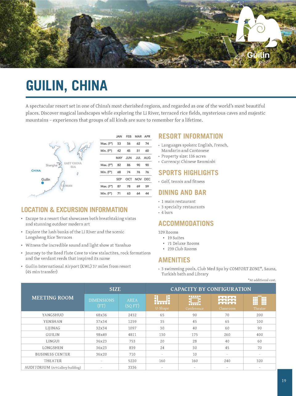 CLUB MED  PICTO GUILIN B  GUILIN, CHINA  N   dossier   201  Date   16 07 201  AD CD validatio  Client validation  A specta...