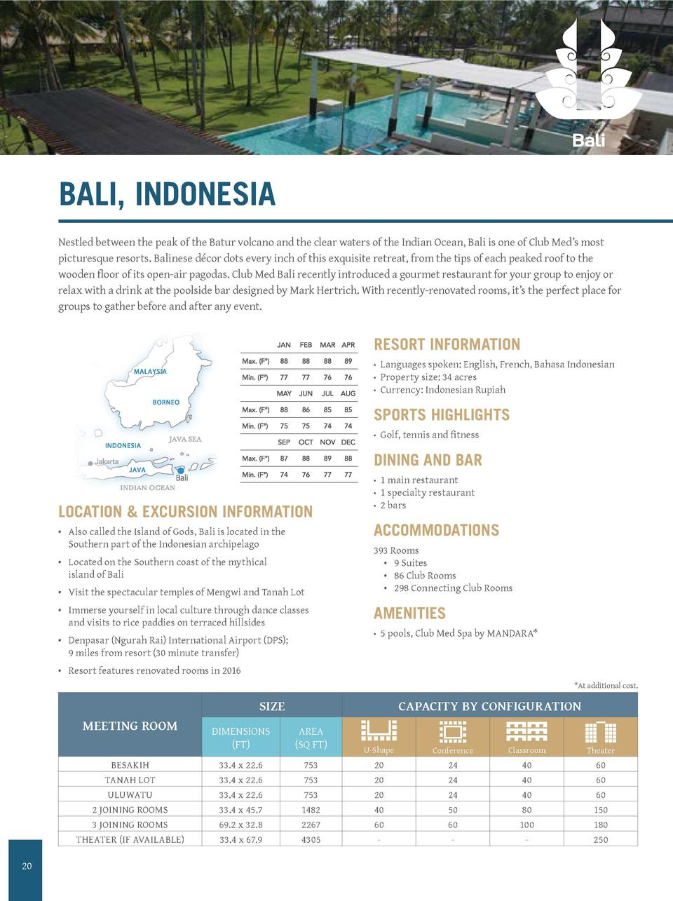 BALI, INDONESIA  CLUB ME  PICTO BA  N   dossier  Date   1 0  AD CD va  Client valid  Nestled between the peak of the Batur...