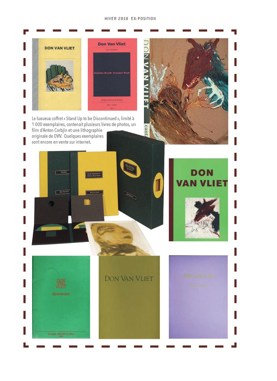 HI V E R 2018 E X- P O S I T ION  Le luxueux coffret    Stand Up to be Discontinued   , limit      1 000 exemplaires, cont...