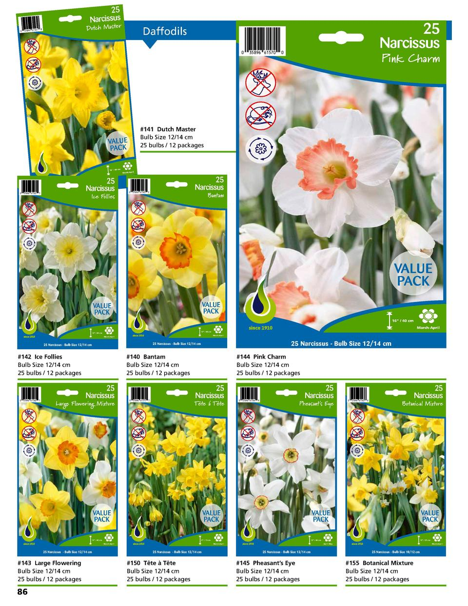 the Netherlands nd     Printed in Product of Holla  25 Narcissus  Dutch Master  8  35896 61561  Product of Holland     Pri...