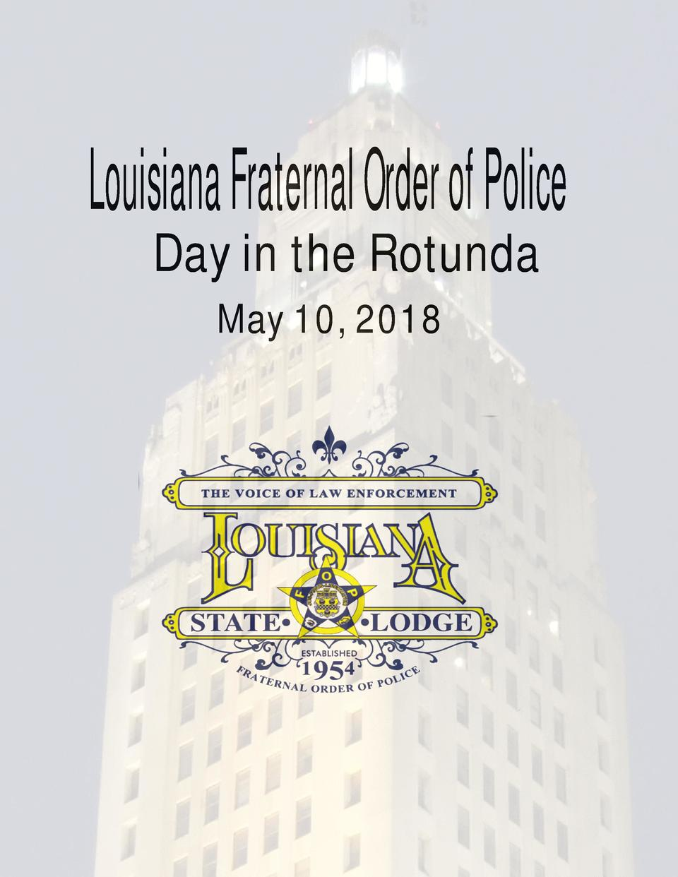Louisiana Fraternal Order of Police Day in the Rotunda May 10, 2018