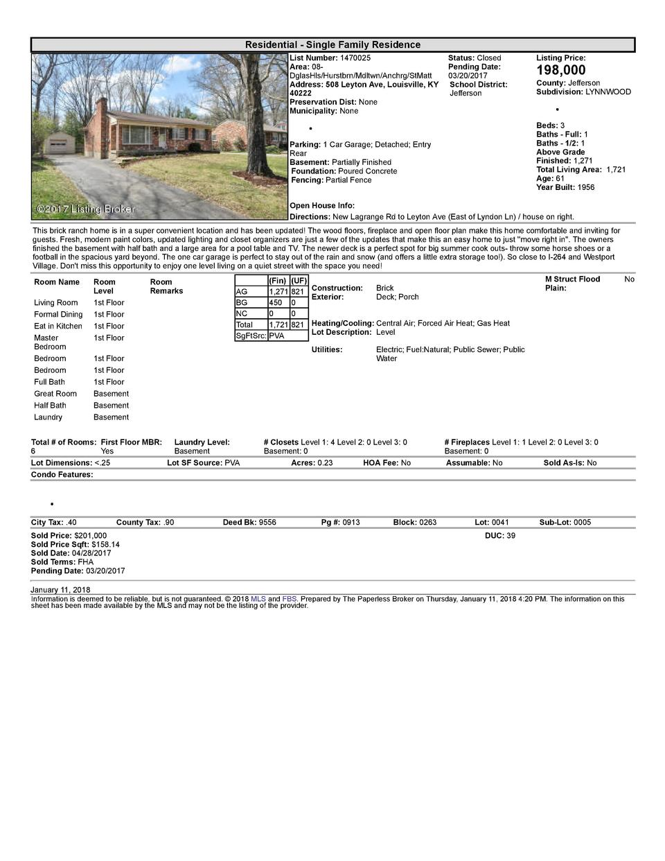 Residential      Single  Family  Residence List  Number   1470025    Status   Closed Area   08   Pending  Date  DglasHl...
