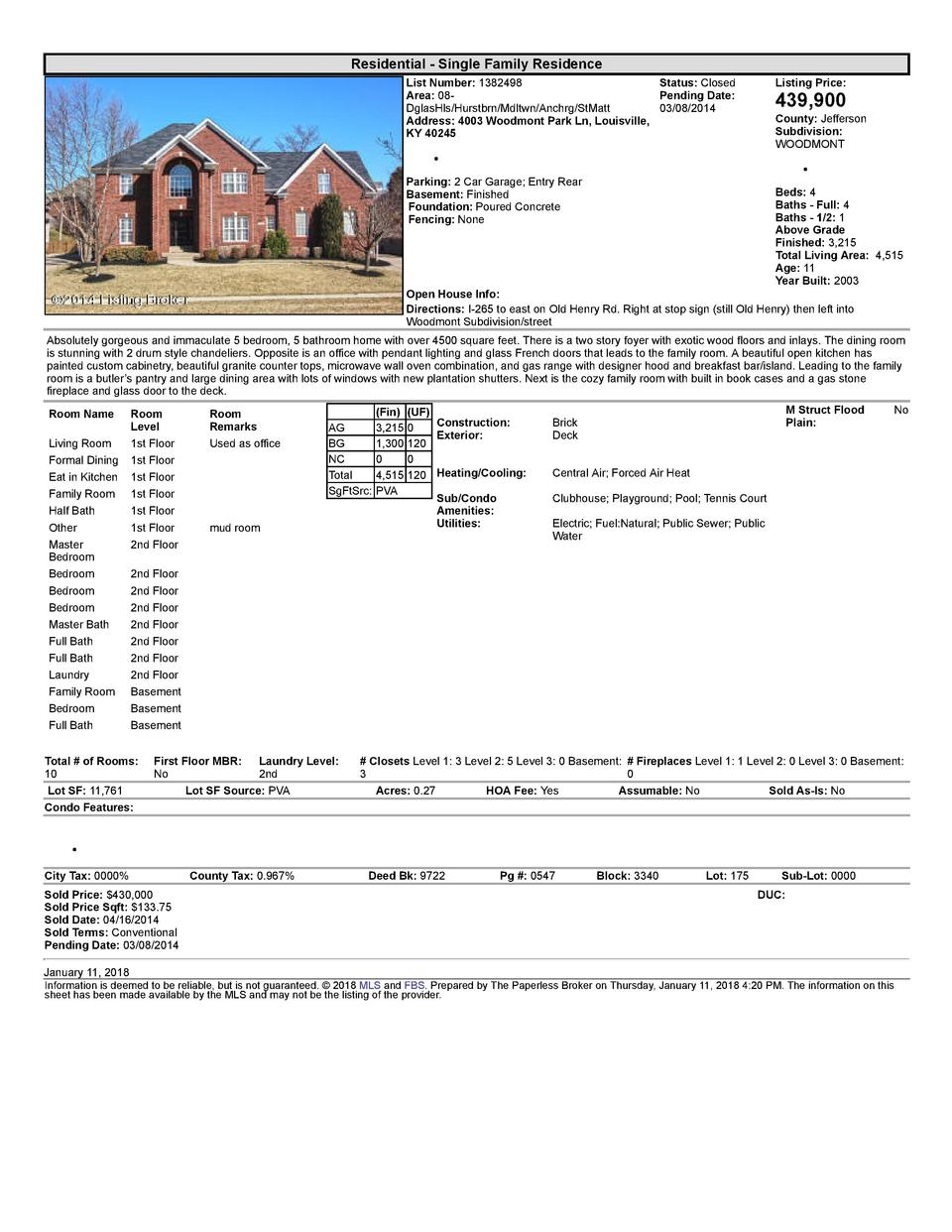 Residential      Single  Family  Residence List  Number   1382498    Status   Closed Area   08   Pending  Date  DglasHl...