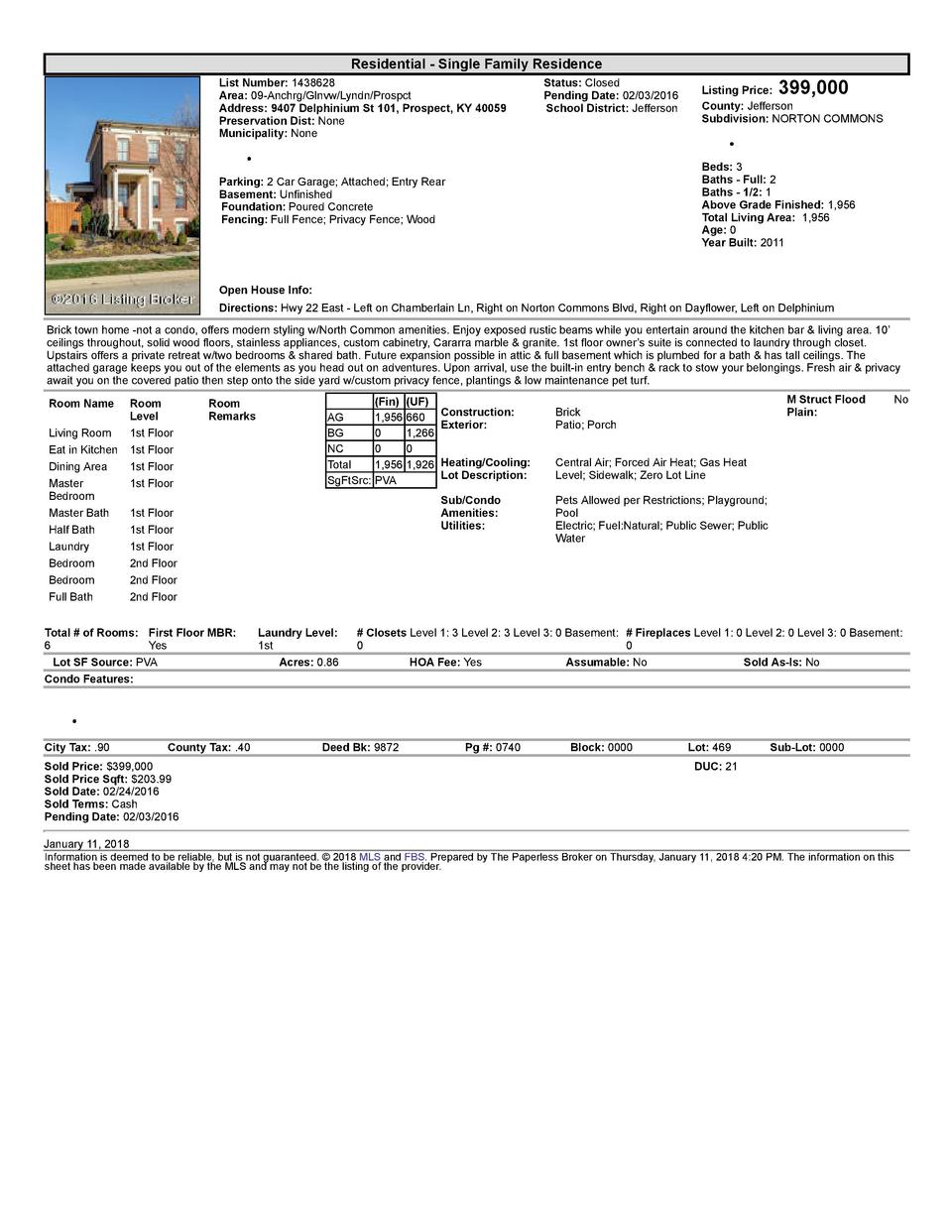 Residential      Single  Family  Residence List  Number   1438628    Area   09  Anchrg Glnvw Lyndn Prospct Address   94...
