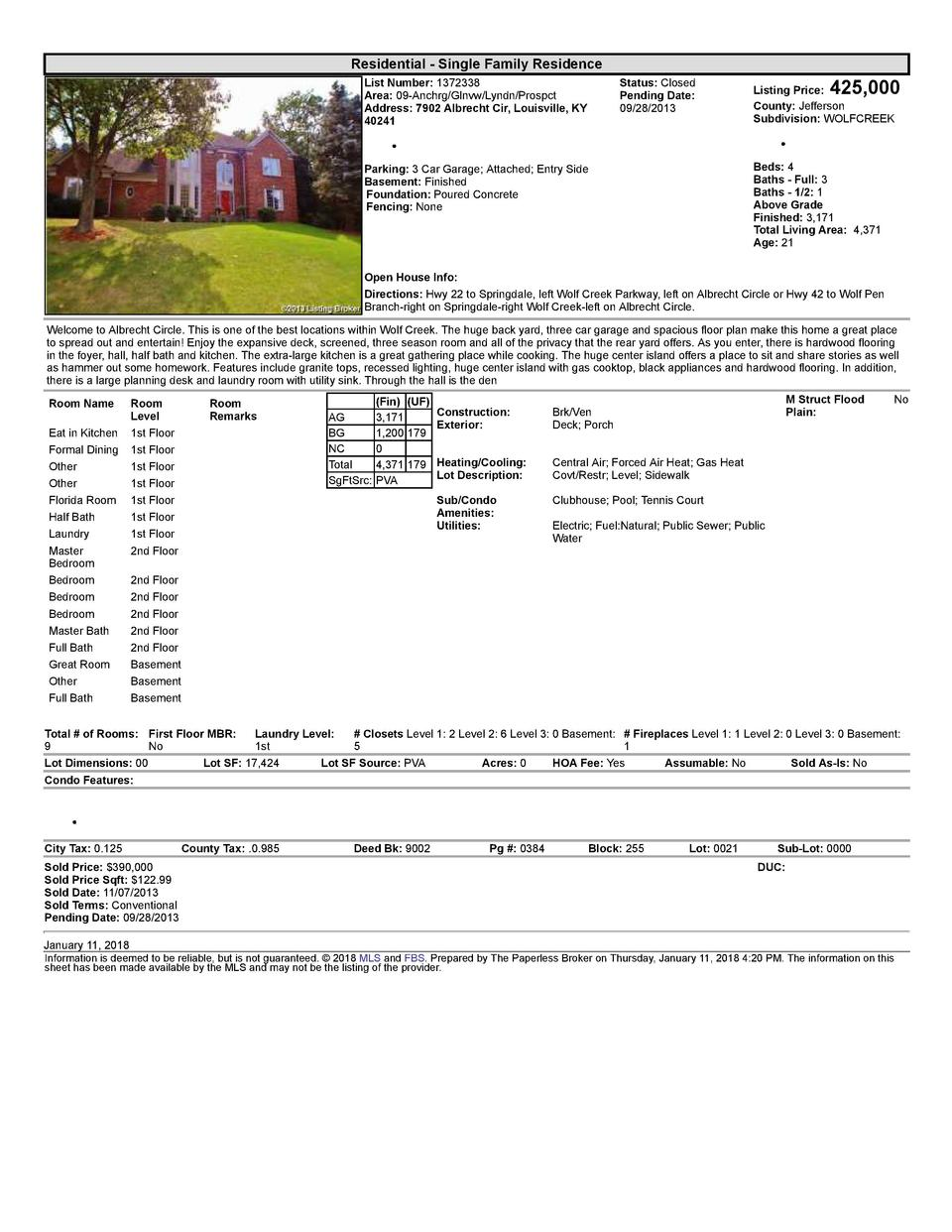 Residential      Single  Family  Residence List  Number   1372338 Area   09  Anchrg Glnvw Lyndn Prospct Address   7902 ...