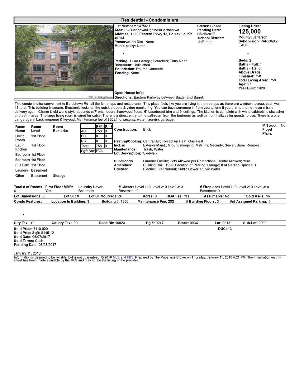 Residential      Condominium List  Number   1475411    Status   Closed Area   02  Buchertwn Hghlnds Germantwn Pending  ...