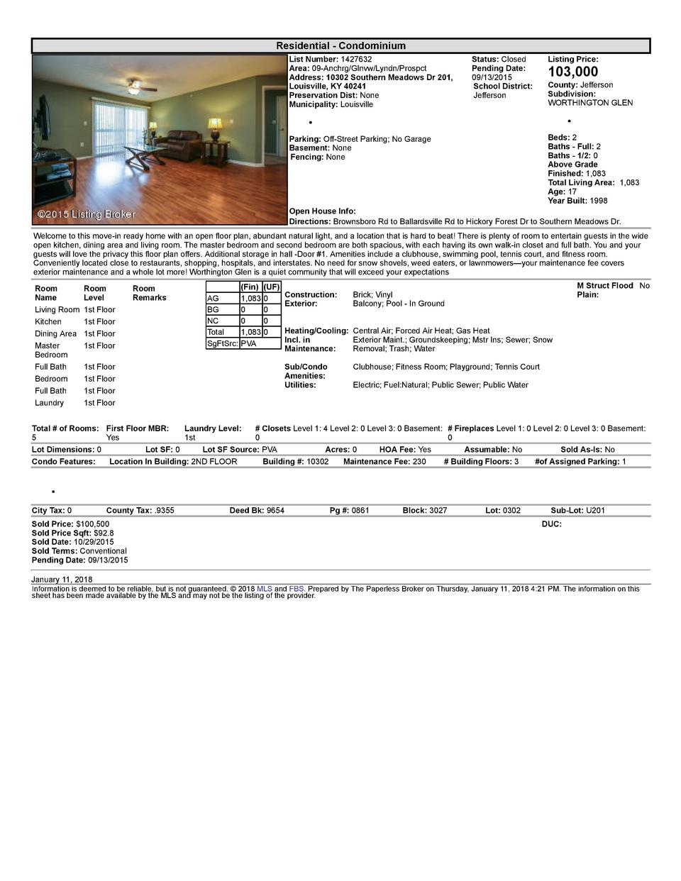 Residential      Condominium List  Number   1427632 Area   09  Anchrg Glnvw Lyndn Prospct Address   10302  Southern  Me...