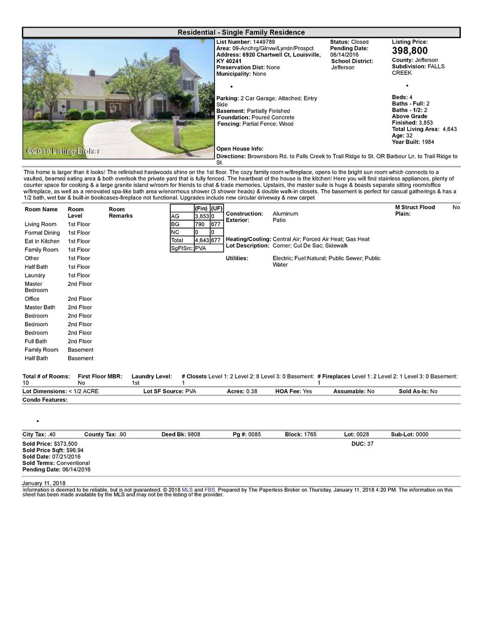 Residential      Single  Family  Residence List  Number   1449789 Area   09  Anchrg Glnvw Lyndn Prospct Address   6920 ...
