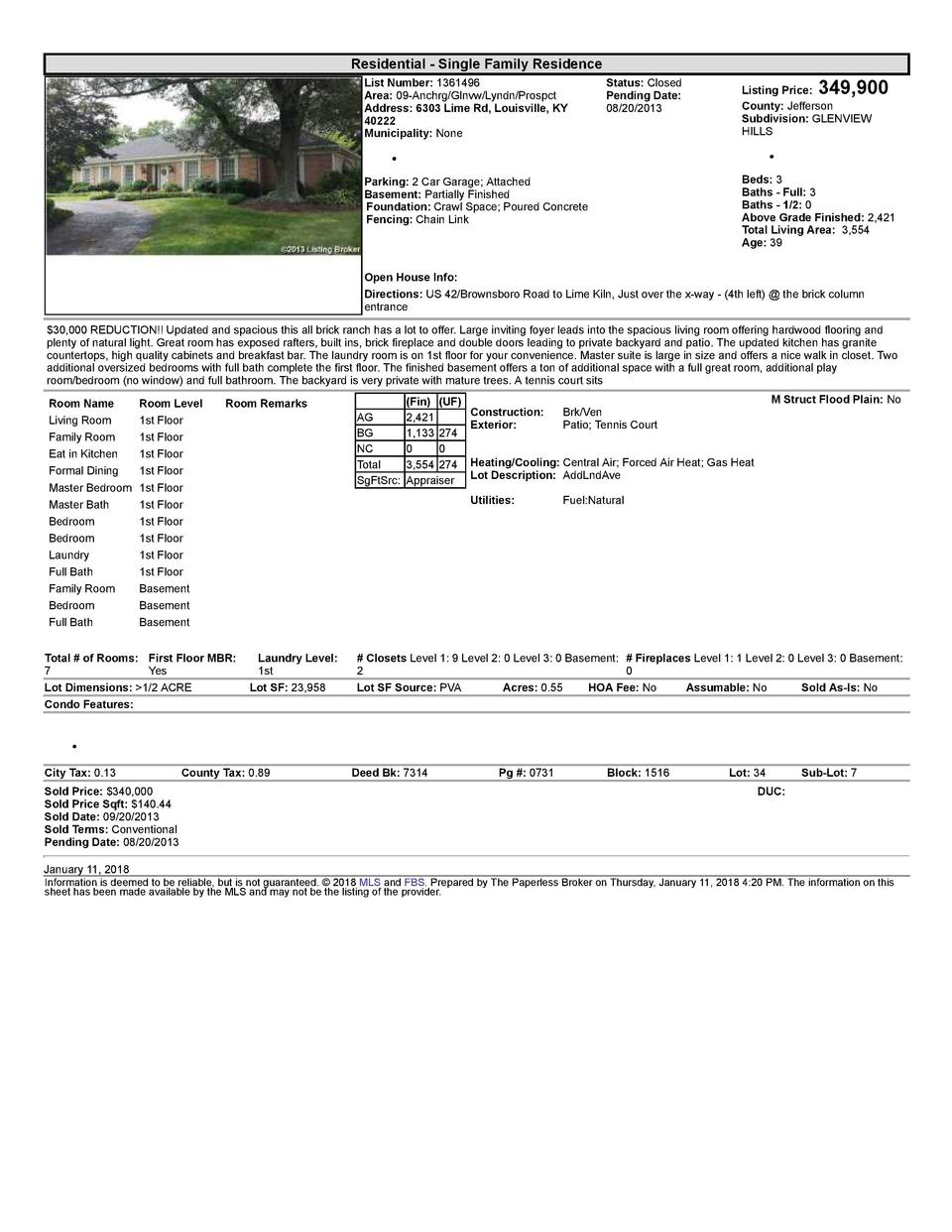 Residential      Single  Family  Residence List  Number   1361496 Area   09  Anchrg Glnvw Lyndn Prospct Address   6303 ...