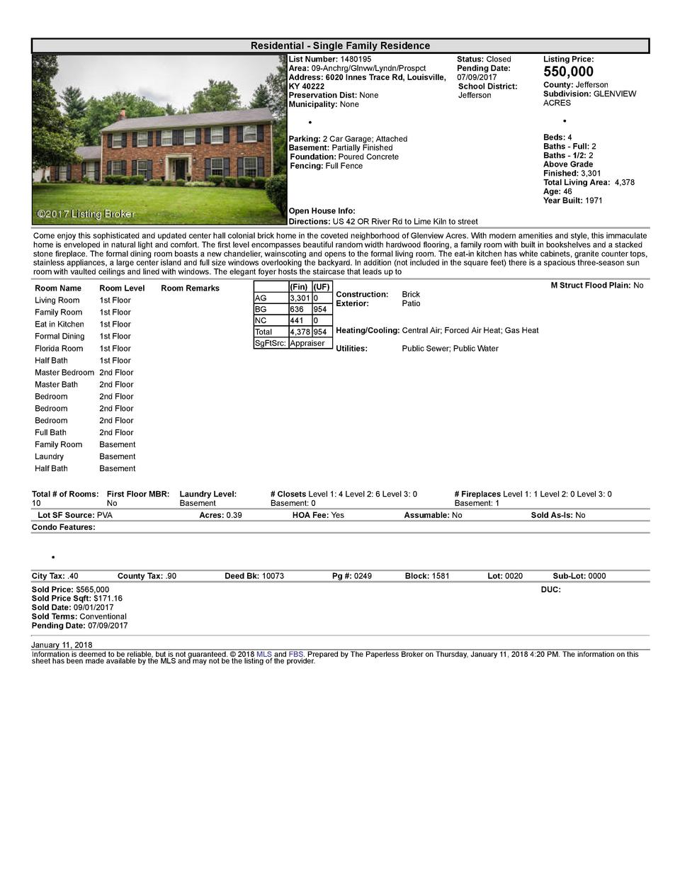 Residential      Single  Family  Residence List  Number   1480195    Status   Closed Area   09  Anchrg Glnvw Lyndn Pros...