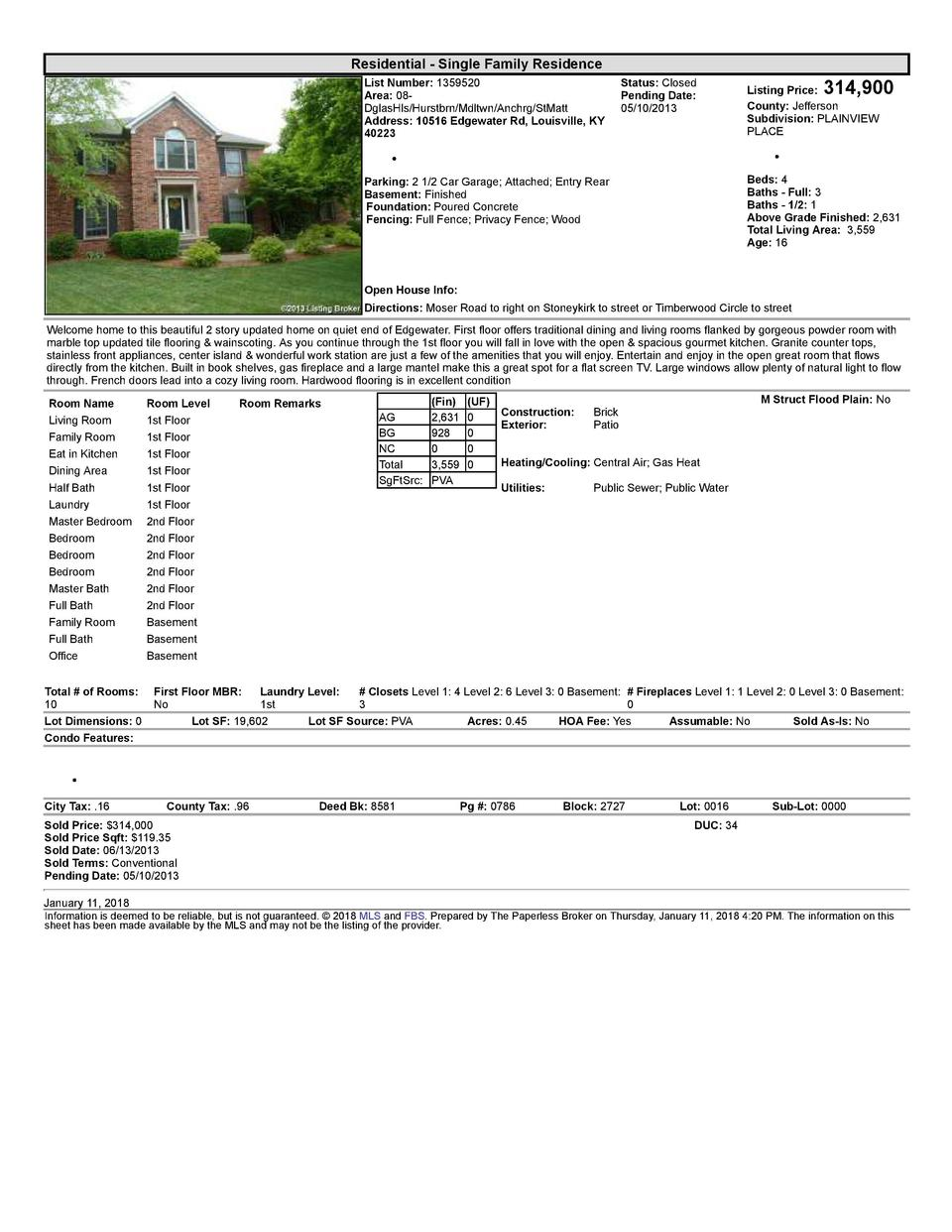 Residential      Single  Family  Residence List  Number   1359520    Status   Closed Area   08   Pending  Date  DglasHl...
