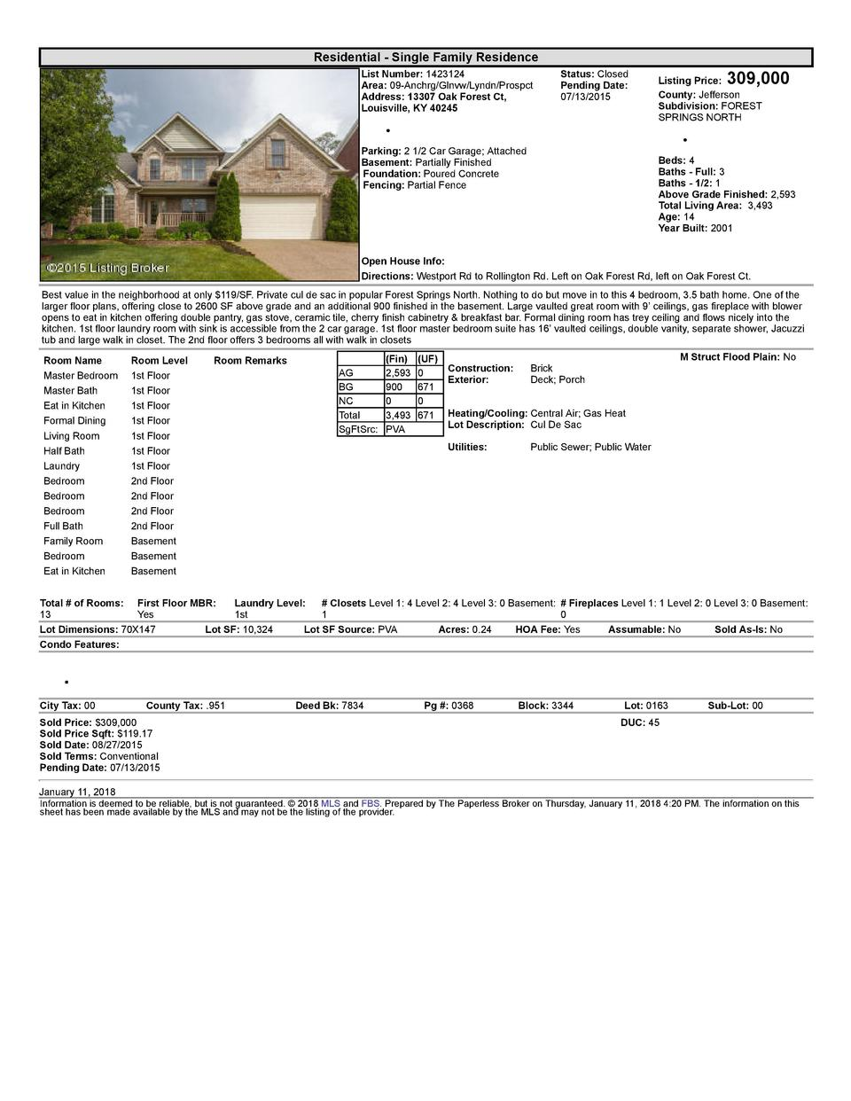 Residential      Single  Family  Residence List  Number   1423124 Area   09  Anchrg Glnvw Lyndn Prospct Address   13307...