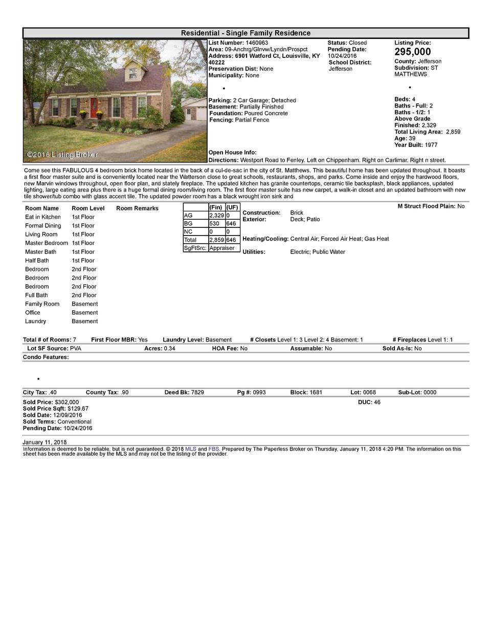 Residential      Single  Family  Residence List  Number   1460963    Status   Closed Area   09  Anchrg Glnvw Lyndn Pros...