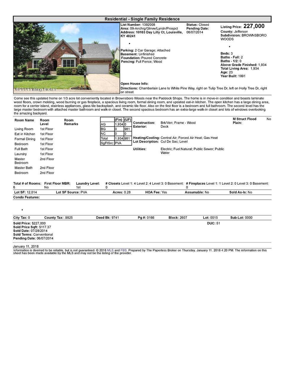 Residential      Single  Family  Residence List  Number   1392008    Status   Closed Area   09  Anchrg Glnvw Lyndn Pros...