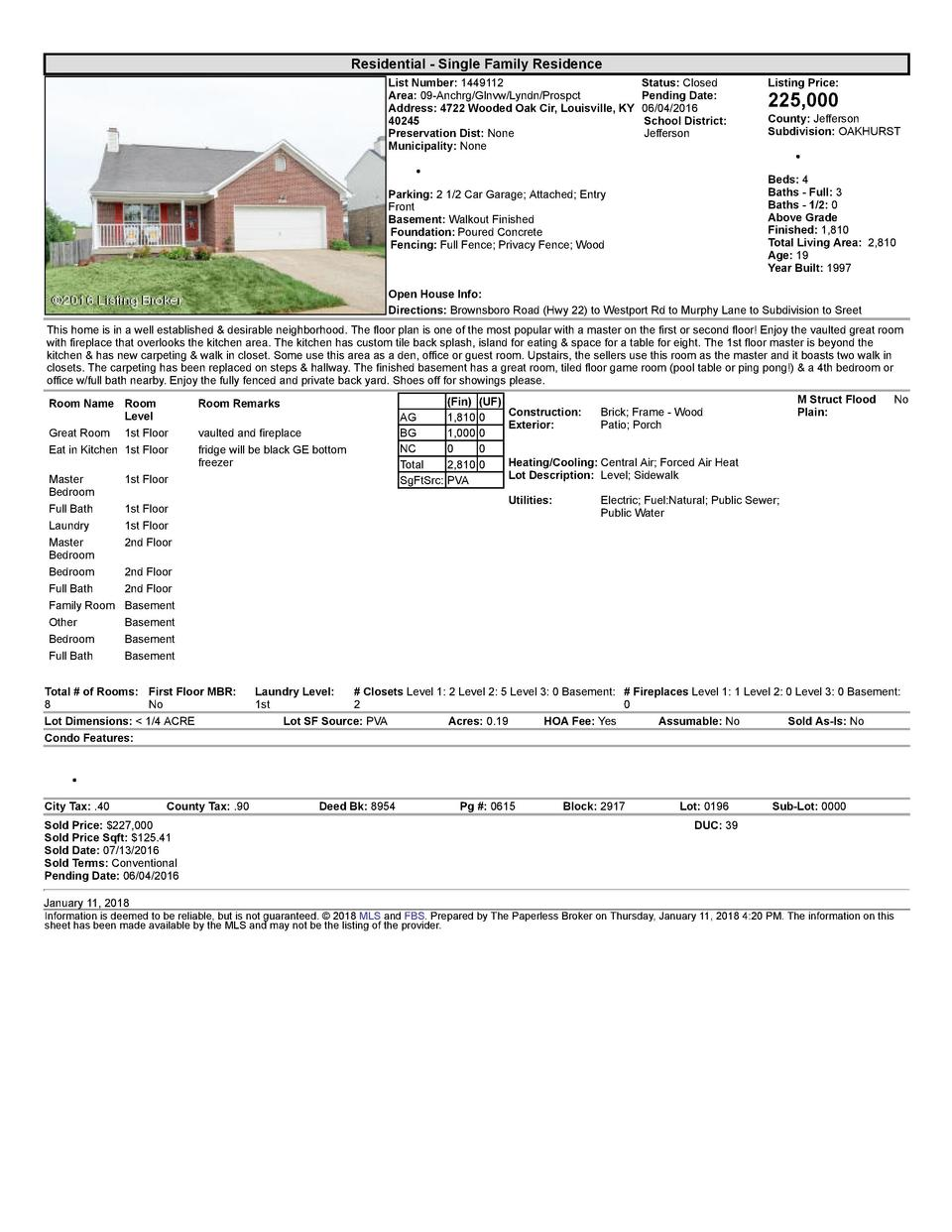 Residential      Single  Family  Residence List  Number   1449112    Status   Closed Area   09  Anchrg Glnvw Lyndn Pros...