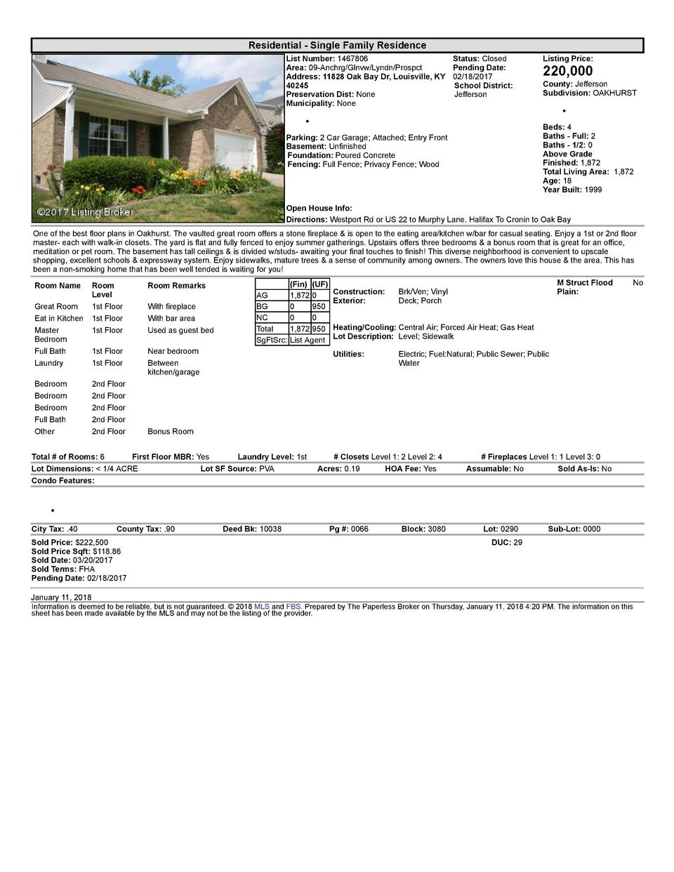 Residential      Single  Family  Residence List  Number   1467806    Status   Closed Area   09  Anchrg Glnvw Lyndn Pros...